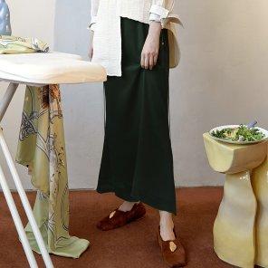 Rosto Layered Skirt_Black+Green (JC19FWSK06BC)