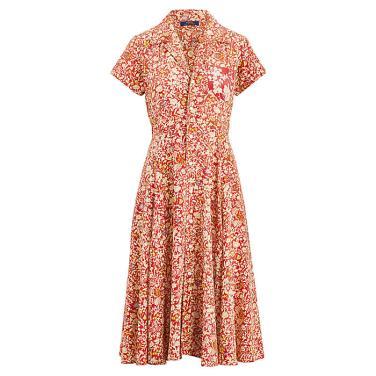 폴로 랄프 로렌 플로랄 핏앤플레어 드레스(WMPODRSNN810070D74)