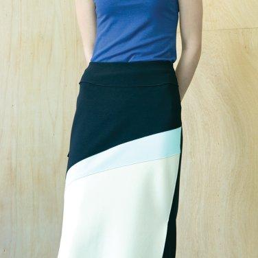 Swoosh Color Block Skirt [DK Navy] (JC19SM2SwooSKDNFR)