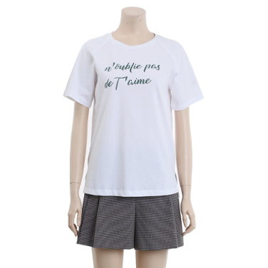 레터링 기본 티셔츠 OW9ME470-EL3