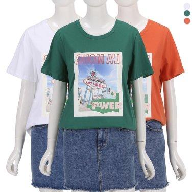 일자핏 그래픽 티셔츠 IW9ME559