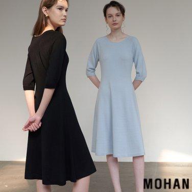 [모한] MOHAN TTS WHOLEGARMENT WOOL100 KNIT DRESS _ 3 COLOR (MHTTSKN013)