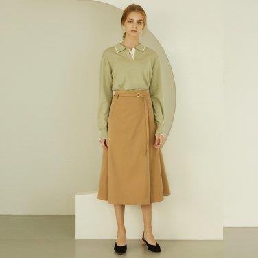 P Tuck Flare Skirt_BE