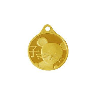 쥐띠 목걸이 메달 3.75g