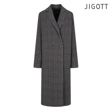 투버튼 핸드메이드 울 체크 코트 JIBE0CT62