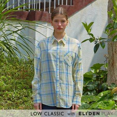 [로우클래식] 19 SUMMER LOCLE _ side slit shirts yellowcheck (Z3LCI5ST105)