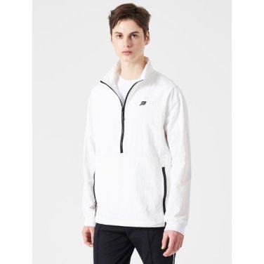 화이트 남성 스트라이프 아노락 재킷 (BO9239D211)