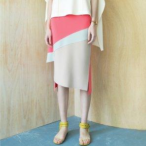 Swoosh Color Block Skirt [Florida Pink] (JC19SM2SwooSKFPFR)
