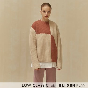 [로우클래식] 19 WINTER LOCLE COLOR BLOCK KNIT_PINK (Z3LCI6KT102)