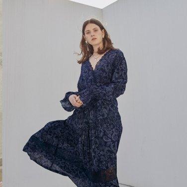 보헤미안 페이즐리 실크 드레스 (OBFOP001ANVL)