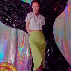 WHALE TAIL SKIRT LIME
