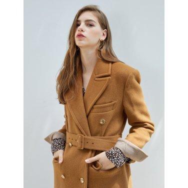 [에프코코로미즈] peaked lapel duffle coat