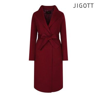 울 싱글 카라 코트 JIAE0CT60