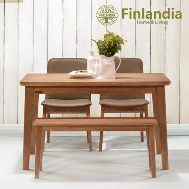 핀란디아 오스턴 4인식탁세트(의자2벤치1)