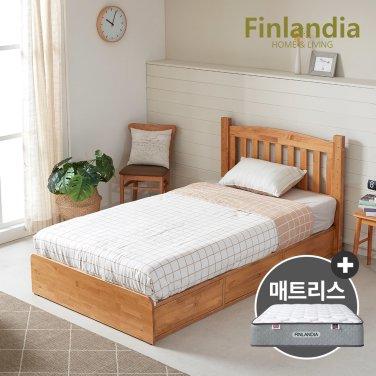핀란디아 탠디 슈퍼싱글침대SS(서랍형)+독립형매트리스