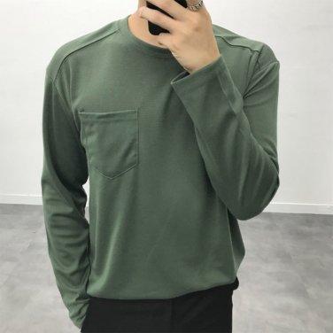 남성 6컬러 원포켓 분또 가을 긴팔 티셔츠_T0429