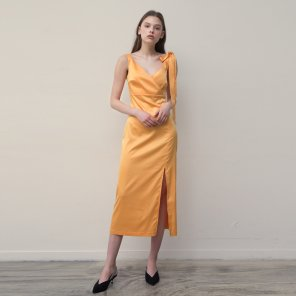 Fitted Slip Dress (Yellow)