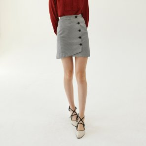 round wrap skirt_black