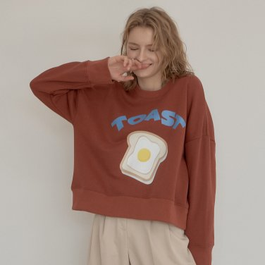 TOAST PRINT SWEATSHIRT_BROWN
