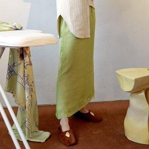 Rosto Layered Skirt_Light Green (JC19FWSK06LG)