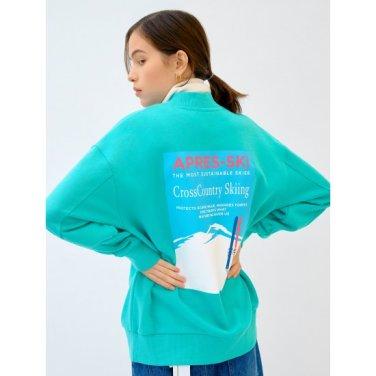 [GREEN BEANPOLE] 라이트 그린 백 프린트 볼륨 소매 스웨트 셔츠 (BF9941N01L)