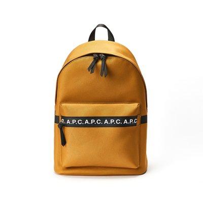 A.P.C. 로고 스트립 백팩 COEAKH62117