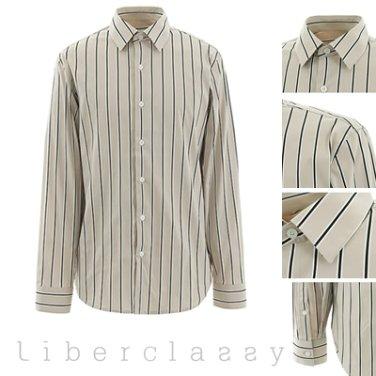리버클래시(DJ) 베이지 스트라이프 루즈핏 셔츠 LEW31152