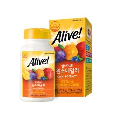 얼라이브 멀티비타민 60정 / 2개월분