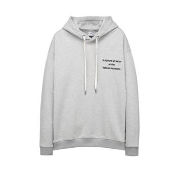 그레이 이그나시 아트웍 와펜 후드 티셔츠 JNTS0B621G2
