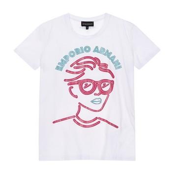 글리터 그래픽 크루넥 티셔츠