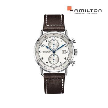 H77706553 카키 네이비 파이오니어 오토크로노 44mm 남성 시계