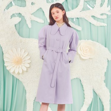 LAVENDER SCENT TRENCH COAT