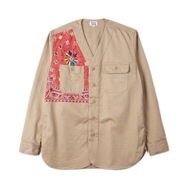 OAXACA Bandana Military Shirt Khaki/Teracota Bandana