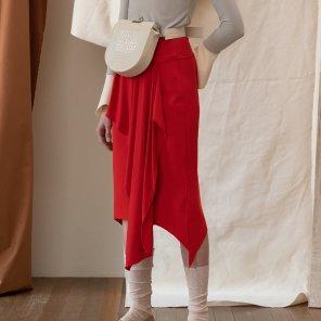 Curtain Skirt [Red] (JC18FWSK06_RE)