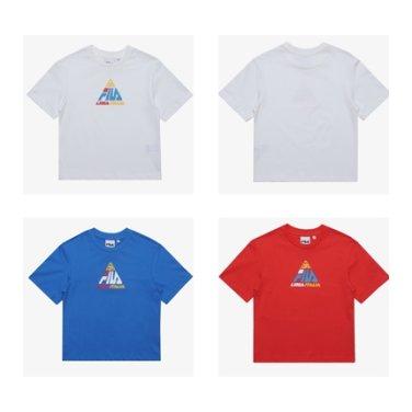 트라이앵글 반팔 라운드 티셔츠/FK2RSB2667X