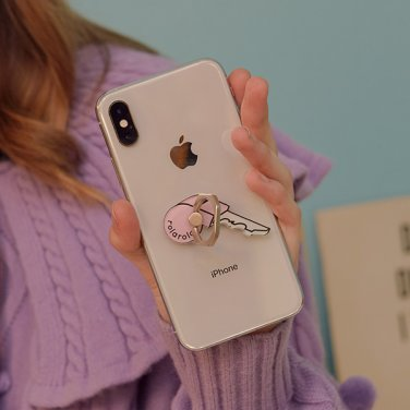 (LV-19709) KEY SMARTPHONE RING PINK