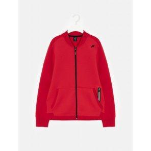 남성 레드 FLEX 솔리드 니트 재킷 (BO0151F026)