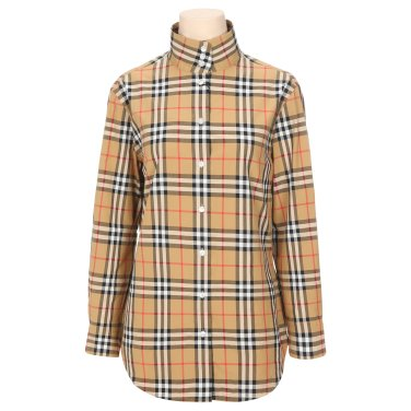 버버리 여성 코튼 체크 셔츠 W 8002171 안티크 옐로우