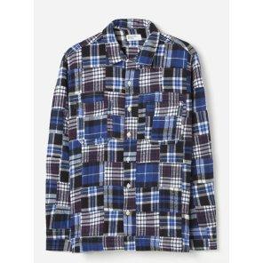 패치워크2 가라지 셔츠 블루 / Garage Shirt II in Blue Brushed Patchwork 2 / REF 21149