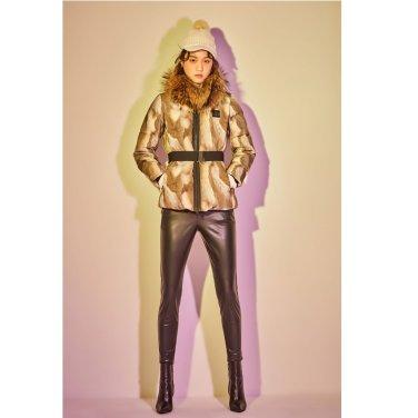 [쇼핑백증정]여성 45th FUR 벨티드 다운자켓(JKJDW18414BEI)