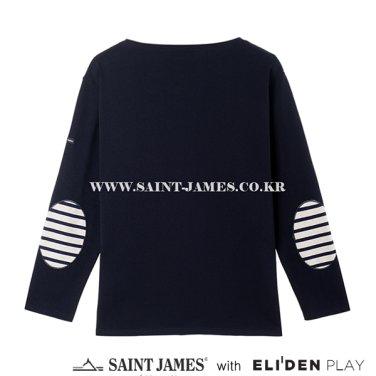 [세인트제임스][프랑스] Guildo U Elbow Patch (0CC) Navy,Ecru/Mariine Patch (Z3SSJ5TS003.NY)