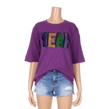 라운드넥 스팽글 포인트 티셔츠 (GJHTS051F)