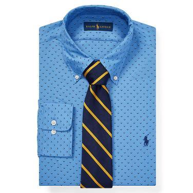 폴로 랄프 로렌 클래식 핏 프린트 포플린 셔츠(MNPODSH37610144B34)