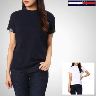 TFMS3KOE25A0(코튼 솔리드 하이넥 반소매 티셔츠)
