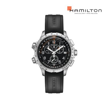 H77912335 카키 엑스윈드 크로노 쿼츠 GMT 블랙 러버 남성 시계