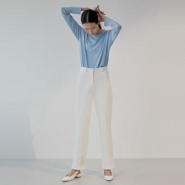 19S COTTON LINE PANTS (WHITE)