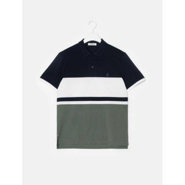 19SS  네이비 컬러 블록 칼라 티셔츠(BC9342A14R)