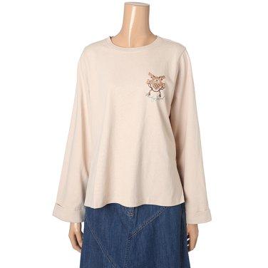 [여성]암홀라인 변형 크랍 티셔츠(T196MTS140W)