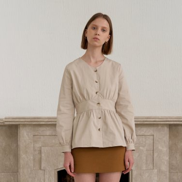 SHIRRING SHIRTS_BEIGE