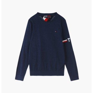 면혼방 로고 크루넥 스웨터( T41J7WWO071BT1)
